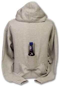beer pouch, gift, camp, christmas presents, hoodi sweatshirt, birthdays, around the house, beer hoodi, wine bottles