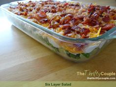 Its summer which means time for picnics and outdoor grilling.  Here's a perfect salad that is sure to please - you almost forget its a salad! :)