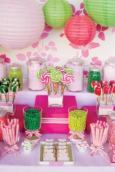 Colorful cake decorating candy bar