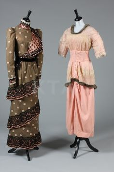 Dresses from the 1910s.
