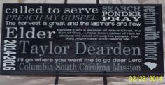 LDS Missionary Personalized Gift  Wood Sign by WordArtTreasures