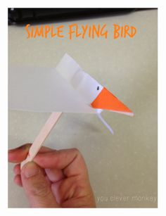 Simple flying bird craft #youclevermonkey