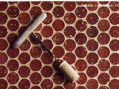 recycled wine cork floors, yes please