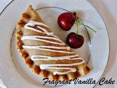 Fragrant Vanilla Cake: Raw Rhubarb Cherry Hand Pies