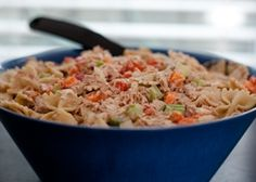 Budget-Friendly Tuna Pasta Salad - You could try this tuna salad without the pasta and serve it on whole-grain bread, a tortilla or on a bed of lettuce. This quick and budget-friendly meal makes a healthy lunch or dinner.