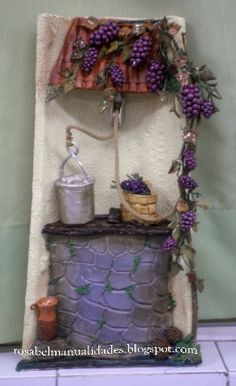Tejas decoradas on pinterest manualidades decoupage and fairy doors - Rosabel manualidades ...