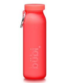 Take a look at this Red 14-Oz. Water Bottle by Bübi on #zulily today!