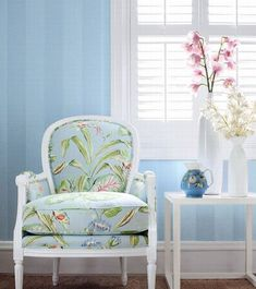 decor, interior design, chair, french interiors, blue walls, french country, french countri, baby blues, country interiors