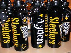 Personalized Water Bottles w/sip top Zebra Cheer Dance by cgirard5, $10.00