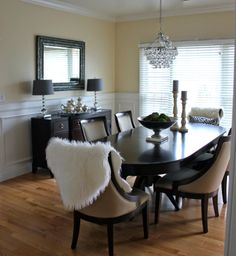 off a luxe dining room with fabulous design elements from homegoods