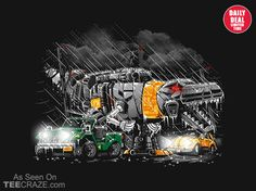 Dinobot Park T-Shirt - http://teecraze.com/daily-deal-9/ -  Designed by AtomicRocket    #tshirt #art #fashion #tee