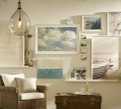 Multiple picture placement ideas from Pottery Barn
