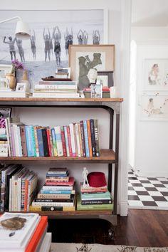 Books, white walls