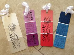 DIY Paint Chip Bookmarks - Stocking Stuffers!