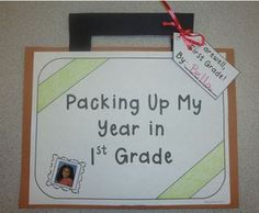 End of the Year - Packing Up My Year in First Grade Memory Book and Craftivity $