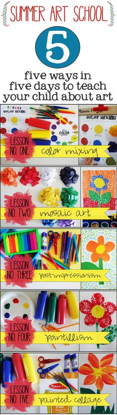 5 Art Appreciation lessons for summer learning #summerfun #oamc
