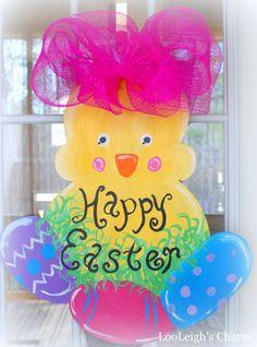 Easter Door Hanger Easter Decoration Easter Door by LooLeighsCharm, $40.00