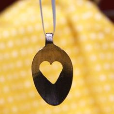 Spoon art  necklac, spoon pendant, finish pendant