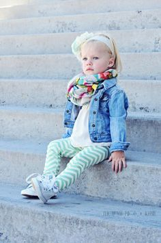 Baby Leggings, MADE TO ORDER, Organic Cotton Chevron Leggings by The Little Spoons. Love the whole outfit