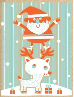 Tad Carpenter Holiday print by tad carpenter, via Flickr