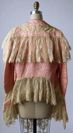 Bed Jacket - back - 1920's - Silk