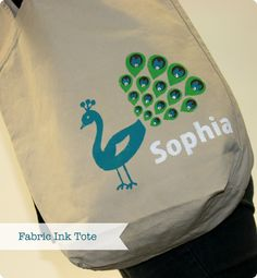 fabric ink tote {free shape 4/17}