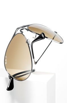 Ray-Ban 58mm Polarized Folding Aviator Sunglasses #Nordstrom #AugustCatalog