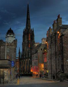 dusk in Edinburgh