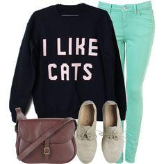 The sweater. I want it. I'm a cat lady.