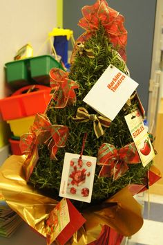 Christmas gift card tree for teacher from class