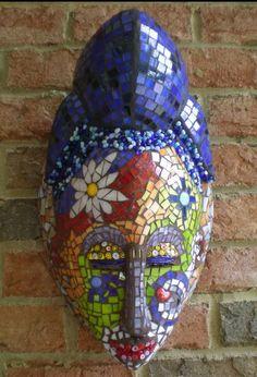 Gorgeous Stained Glass Mosaic Mask Wall Art | artsyphartsy - Mosaics on ArtFire