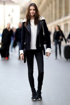 Street fashion: Paris Fashion Week jesień-zima 2014/2015, fot. Imaxtree