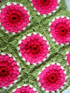 pink and green crochet idea