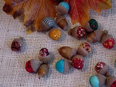 Woodland Fabric Acorns Autumn Rustic Country Wedding Thanksgiving Fall Holiday Home Decor itsyourcountry on Etsy, $24.99
