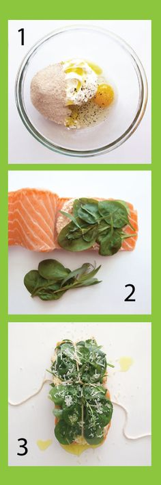 Spinach Stuffed Roast Salmon Recipe — Dishmaps