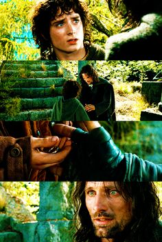 """""""I would have gone with you to the end. Into the very fires of Mordor."""" Frodo & Aragorn."""