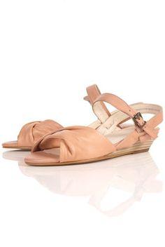 salmon sandals