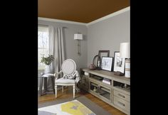 Ceiling color on pinterest tray ceilings palladian blue for Benjamin moore monterey white