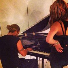 David playing the piano
