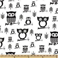 Premier Prints Hootie Owl White/Black