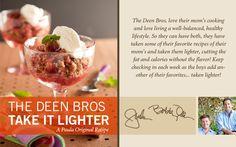The Deen Bros. Lighter Strawberry Rhubarb Ginger Crisp on PaulaDeen.com