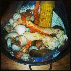 Joe's Crabshack mussels, shrimp and crab bowl