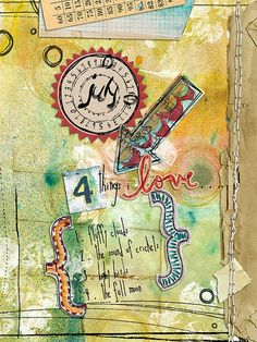 Art journaling...Points of Two - Week 29 by Robes-Pierre, via Flickr