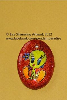 $10 Starting Bid: Tweety Bird Painted Pendant Necklace http://www.outbid.com/auctions/1734#19