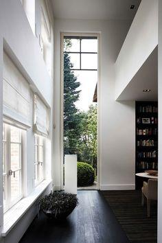 Long vertical window.