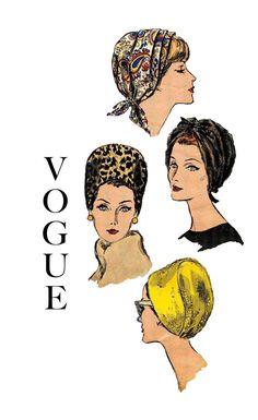 1960s Vogue 6121 Bandeau and Hat Vintage by DesignRewindFashions, $28.00 #60s #retro #vintage