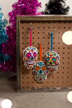 skull galor, skull ornament, sugar skull, pretti skull
