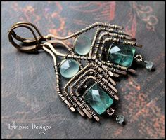 Wire Wrapped Apatite Aquamarine and Seafoam by CathyHeery on Etsy, $48.00