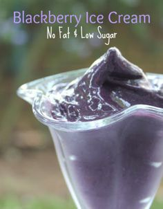 Blackberry Ice Cream -- no fat, low sugar, and vegan!