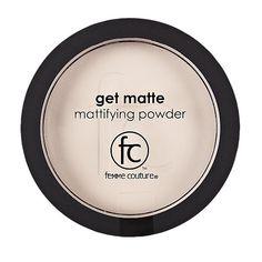 Femme Couture Matte Mattifying Powder quickly eliminates shine.